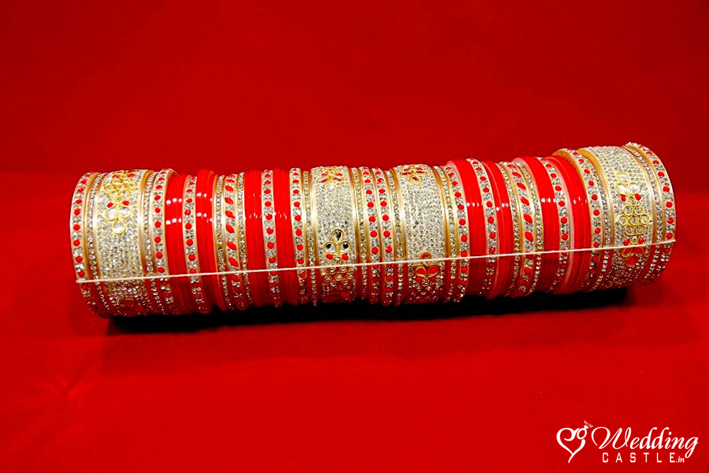 Bridal Bangles(Wedding Chura) - Red Gold - Wedding Castle