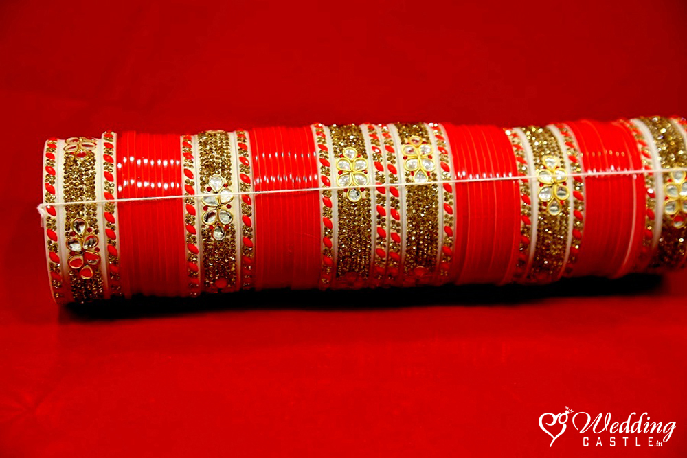 Bridal Chura - Golden Metal - Wedding Castle